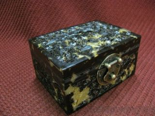 Rare Chinese Traditional Carved Crane Case / Box photo