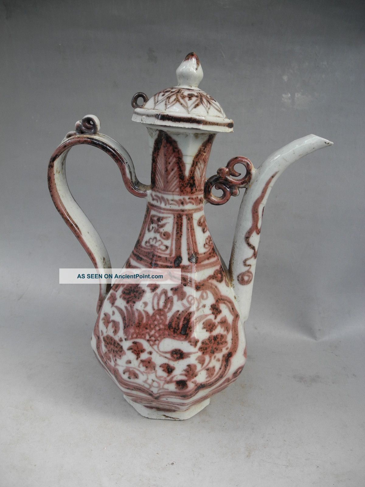 Chinese Underglaze Red Porcelain Teapot Teapots photo