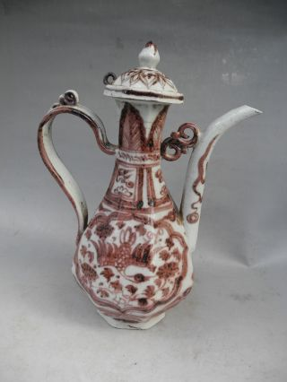 Chinese Underglaze Red Porcelain Teapot photo
