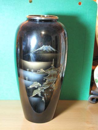 Japanese Mixed Metal Vase photo