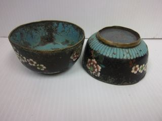 Antique Chinese Rare Cloisonne Bowls photo