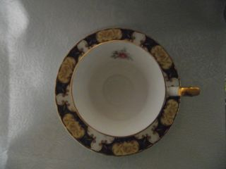 Rosina Fine Bone New T/cup W/plate England H/ Paint M/color Gold High Quality photo