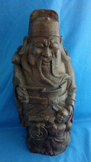 Antique Chinese Hand Carved Bamboo photo