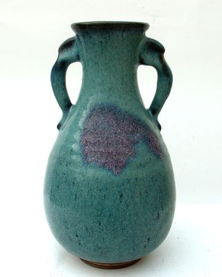44 - 49: A Chinese S - Ong Jun - Kiln Porcelain Vase photo