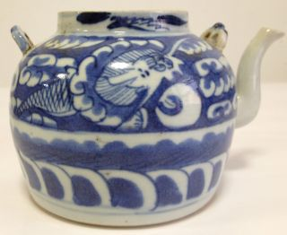 Porcelain Blue And White Tea Pot photo