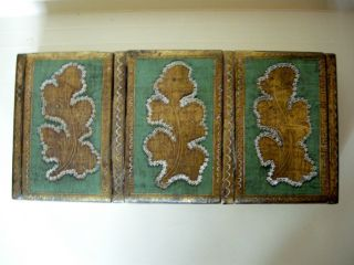 Finely Painted Antique Gilt Lacquer Wooden 4x8 - 1/2