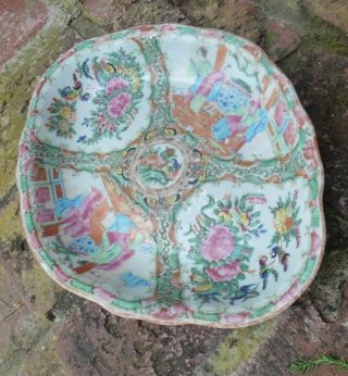 Antique C19 Chinese Famille Rose Medallion Dish Tray Plate Bowl photo