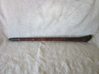 Tobacco Smoking Pipe Antique Chinese Bamboo & Brass Ca: Early 1900 ' S photo