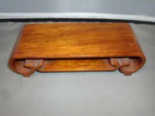 Chinese Carved Hardwood Display Stand Plateau For Porcelain Kangxi Snuff Bottle photo