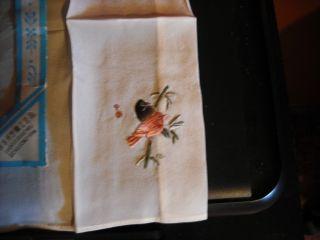 Advanced Silk Handlerchief/embriodered Birds/with Symbol photo
