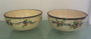 Hotta Yu Shoten Basket Weave Antique 1920 ' S Japan Bowl 2pc Porcelain Hand Paint photo