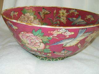 Large Antique Multi - Color Porcelain Bowl - Mark Of Jiaqing C 1796 - 1820 photo