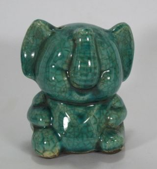 Rare Chinese Porcelain Elephant Green Water Dropper photo