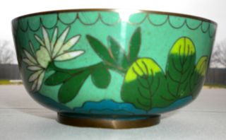 Vintage Chinese Asian Cloisonne China Signed Rice Bowl / Cup / Dish photo