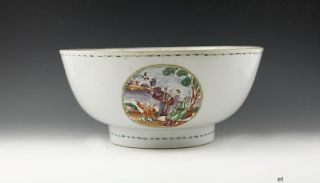 Antique 1790s Painted Chinese Export Porcelain Bowl photo