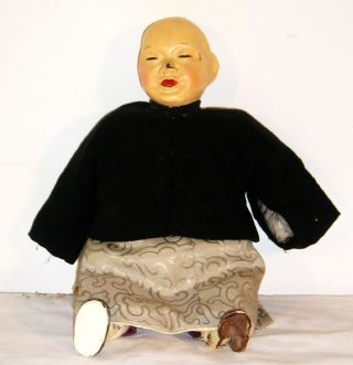 Vintage Chinese Composition Doll M7 photo