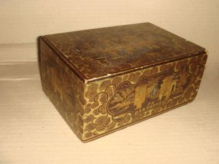 Antique Chinese Lacquer Box - photo