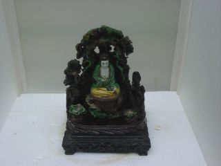 Rare Antique Vintage Chinese Susancai Kwan Yin Figurine Late Ch ' Ing Dynasty photo