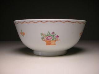 Antique Chinese Export Famille Rose Porcelain Bowl (d: 13.  7cm) photo