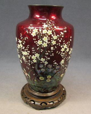 Antique Chinese Silver & Enamel Vase As/5042 photo