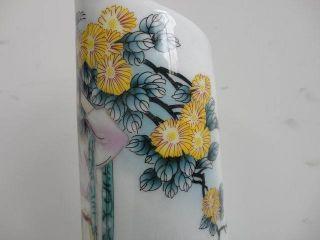 Slant Mouth Porcelain Vase Ceramic Exquisite Old photo