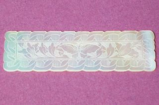 Antique Chinese Hand Carved Mother Of Pearl Butterfly Gaming Counter Chip photo