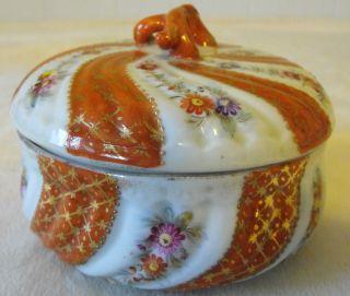 Npsk Porcelain Bowl With Cover Stamped Npsk On Bottom photo