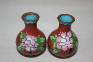 Rare Pair Antique Chinese Cloisonne Vase photo