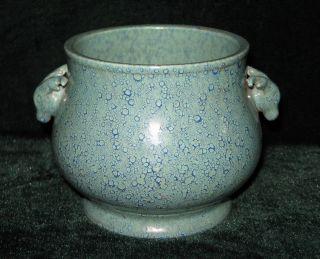 Rare Chinese Old Lu Jun Yao Porcelain Double Ear&censer photo