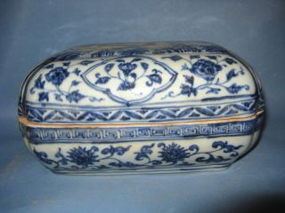 China Noble Blue And White Porcelain Dragon Box photo