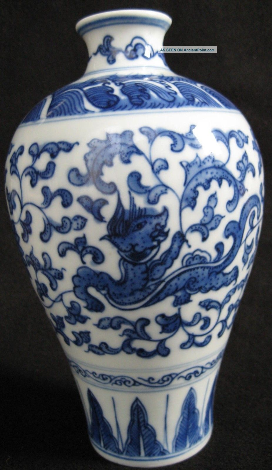 Ch ' Ing Kang Hsi Period Blue - White Vase Vases photo
