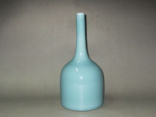 The Qing Dynasty Sky Blue Glaze Antique Bottles photo