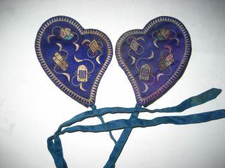 A Pair Antique Chinese Embroidery Ear Bag photo
