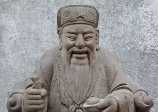 Chinese Ming Dy Camphorwood Statues photo