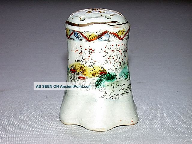 Vintage Hand Painted Chinese Hat Pin Holder Other photo