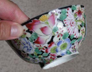 Antique Chinese Porcelain Mille Fleurs Bowl C1900 photo