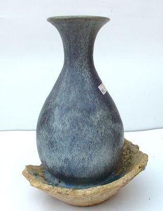 44 - 15: Rare Jun - Kiln Vase W Manufacturing - Defect photo