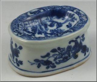 Great Chinese Kangxi Period Blue & White Trencher Salt photo