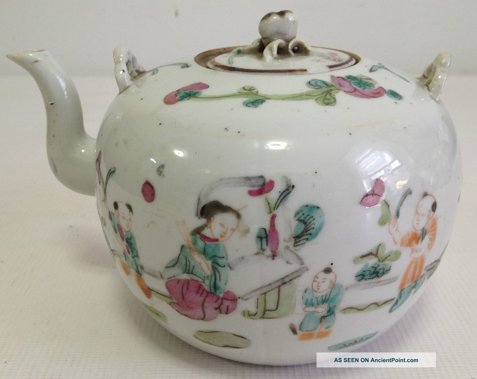 Chinese Famille Rose Porcelain Tea Pot With Cover And Handle Teapots photo