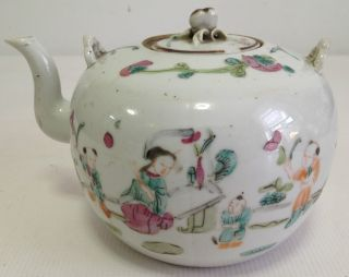 Chinese Famille Rose Porcelain Tea Pot With Cover And Handle photo