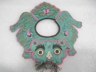 Old Chinese Embroider Baby Collar - Tiger photo