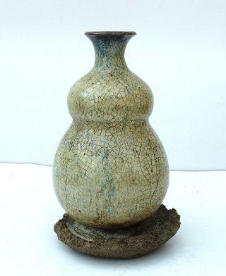 44 - 30: A Jun - Kiln Vase W Manufacturing - Defect photo