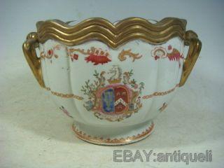Rare Chinese Export Armorial Porcelain Jar photo