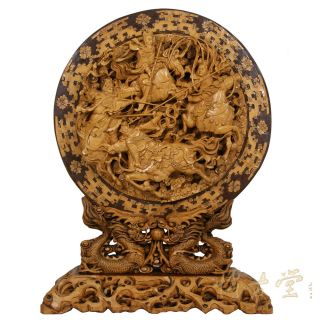 Chinese Antique Muti Layers Wood Carving With Stand 12lp22b photo