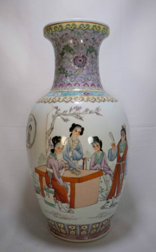 Antique Hand Painted Republic Period Chinese Vase Perfect Condition photo