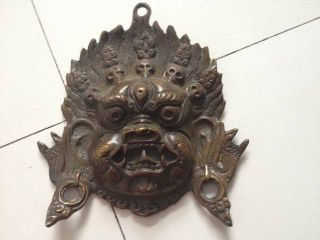 Lion - Shape Knocker Door Decoration Bronze Antique Chinese Handmade Old photo