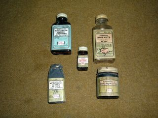 Vtg Lilly ' S Medicine Bottle,  5 Eli Lilly Pill Bottles photo