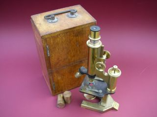 Antique Edwardian Microscope R & J Beck photo