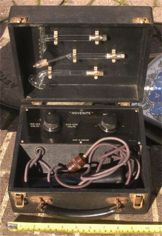 Antique/vintage Electric Shock Boxed Device Hovenite 100 - 125 & 200 - 250 Volts photo