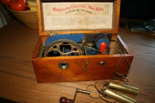 Victorian Antique Mahogany Electric Shock Machine Coil 1870 Medical photo